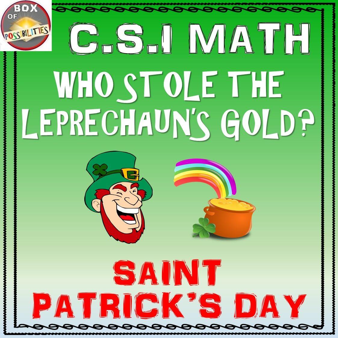 Saint Patrick S Day Csi Math Activity