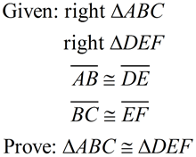 Verify Methods of Proving Triangle Congruent