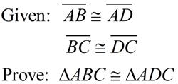 Recognizing Congruent Triangles Practice