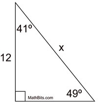Problems Sine Cosine Complementary Angles Practice