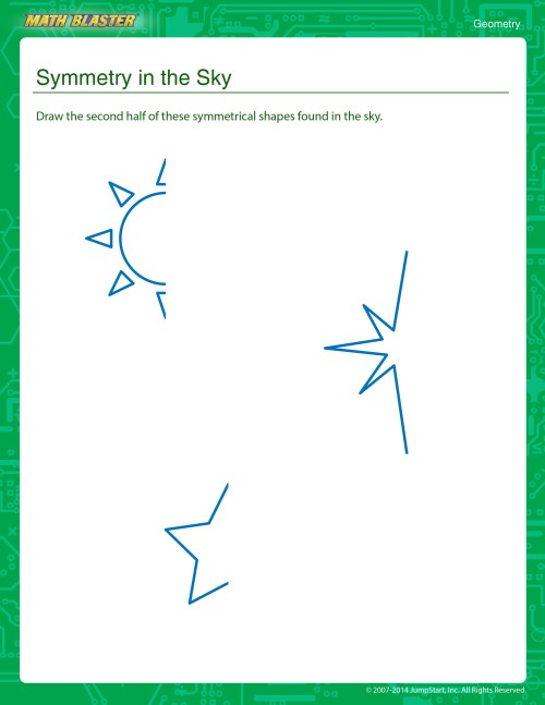 small resolution of Worksheet of the Week: Symmetry in the Sky   The Math Blaster Blog