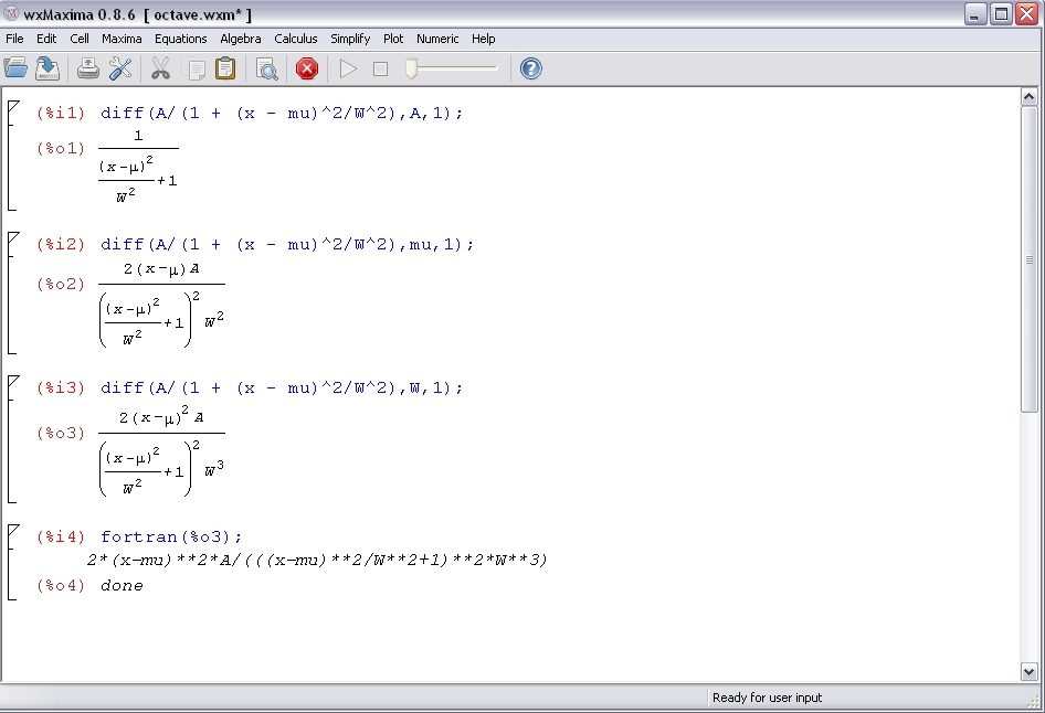 Using Maxima Output In Octave Math Blog