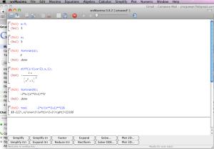wxMaxima on a Macintosh