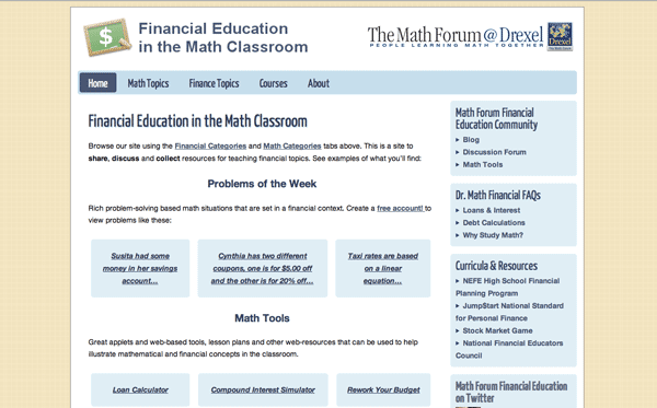 Financial Education in the Math Classroom