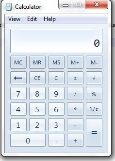 MS Windows Calculator GUI