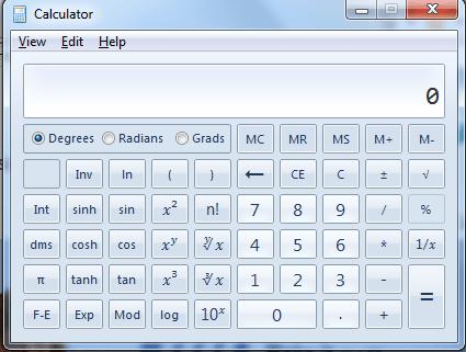 Scientific Calculator Microsoft Windows