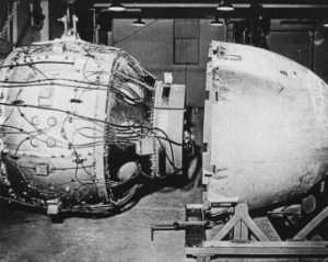 Fat Man Being Assembled on Tinian (Sphere is the Actual Atomic Bomb)