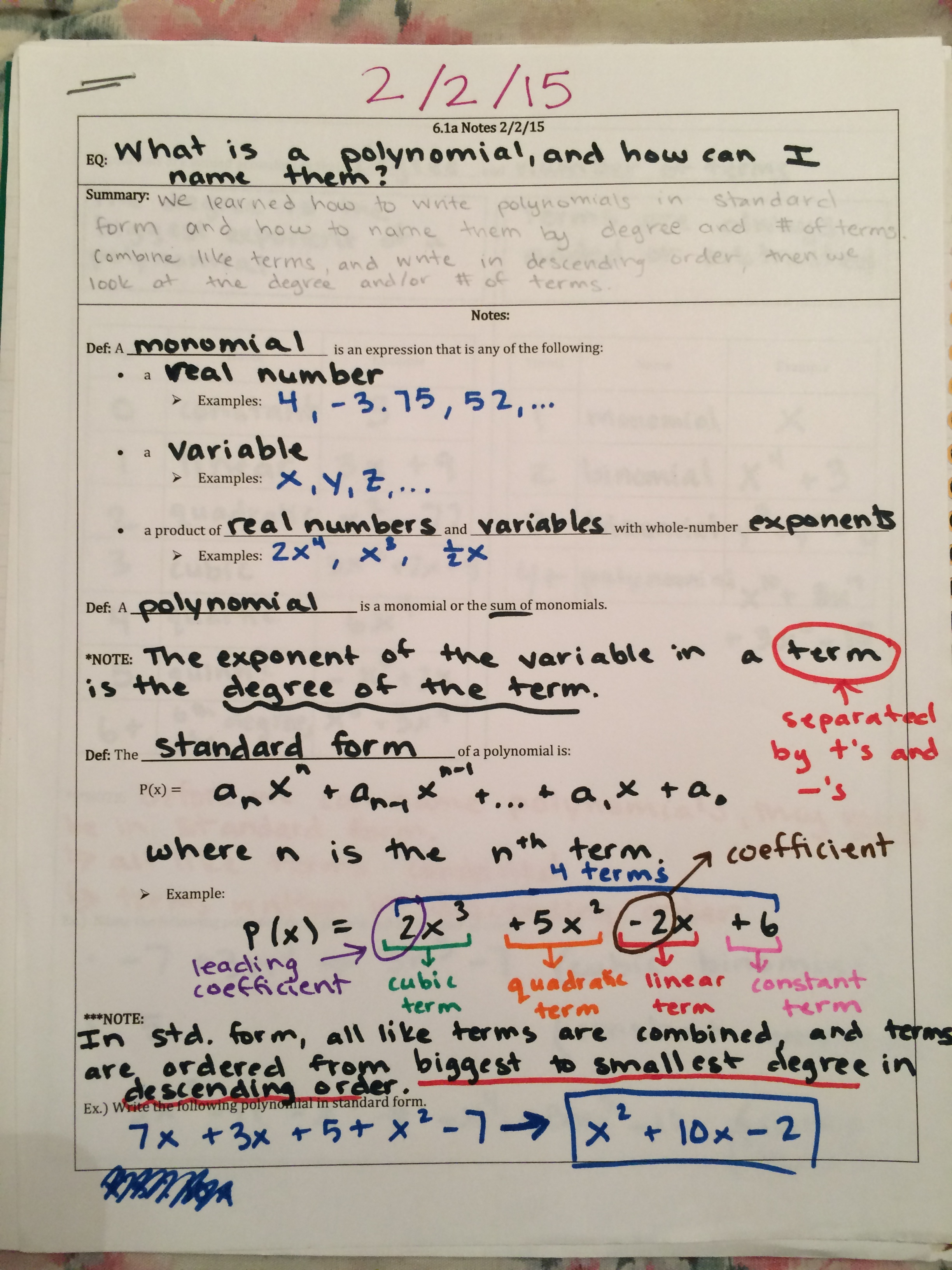 Solving Cubic Polynomials Math By The Mountain