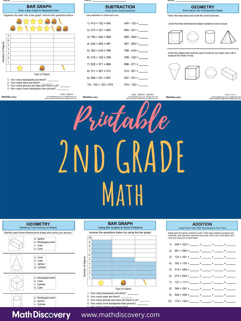 medium resolution of 2nd Grade Math   Free Printable Worksheets and Lessons