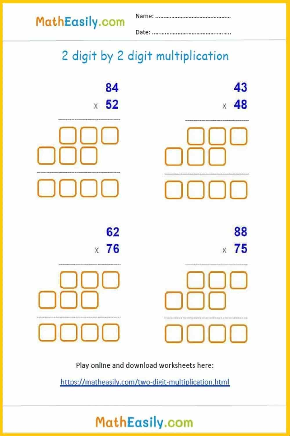 hight resolution of 2 digit by 2 digit multiplication games and worksheets
