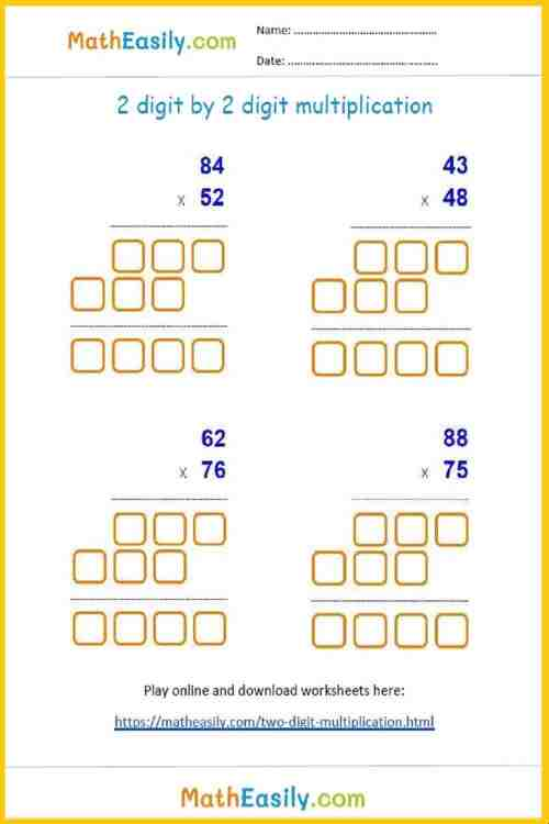small resolution of 2 digit by 2 digit multiplication games and worksheets