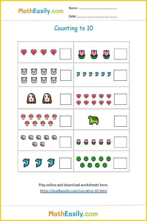 small resolution of Kindergarten Math Worksheets and Online Exercises