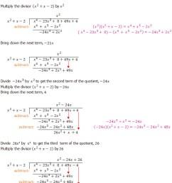 Algebraic Long Division - An Introduction - Dividing Polynominals [ 1169 x 691 Pixel ]