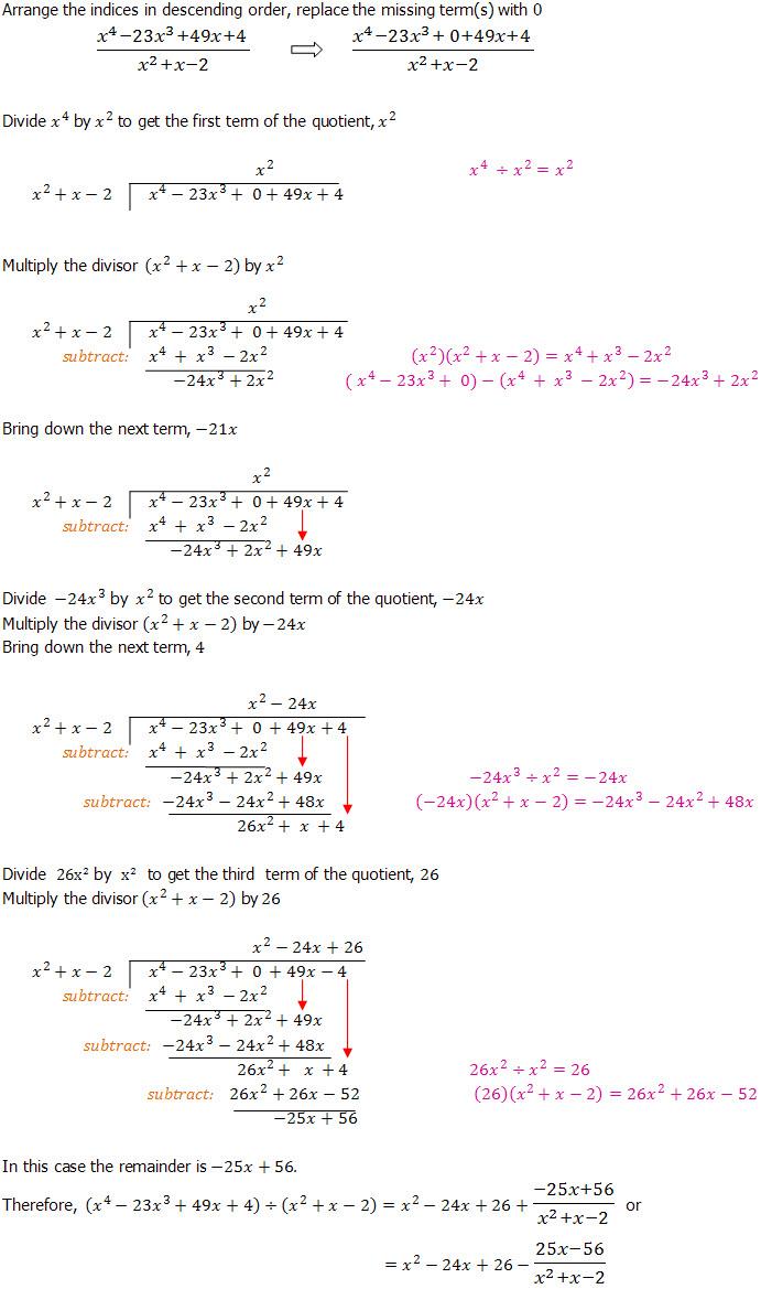 medium resolution of Algebraic Long Division - An Introduction - Dividing Polynominals