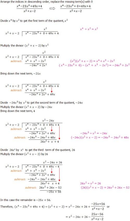 small resolution of Algebraic Long Division - An Introduction - Dividing Polynominals