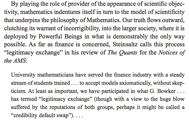 Macroeconomics is pure, not applied, mathematics