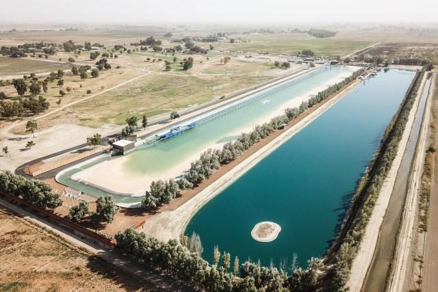 A piscina de Kelly Slater vista de cima. Foto: KSWC.
