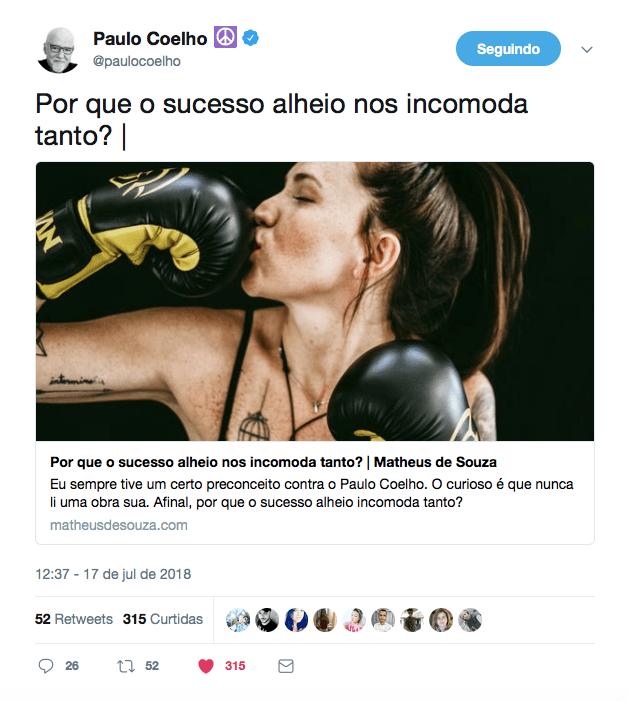 sucesso Paulo Coelho
