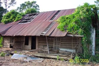 Mathews cabin before restoration