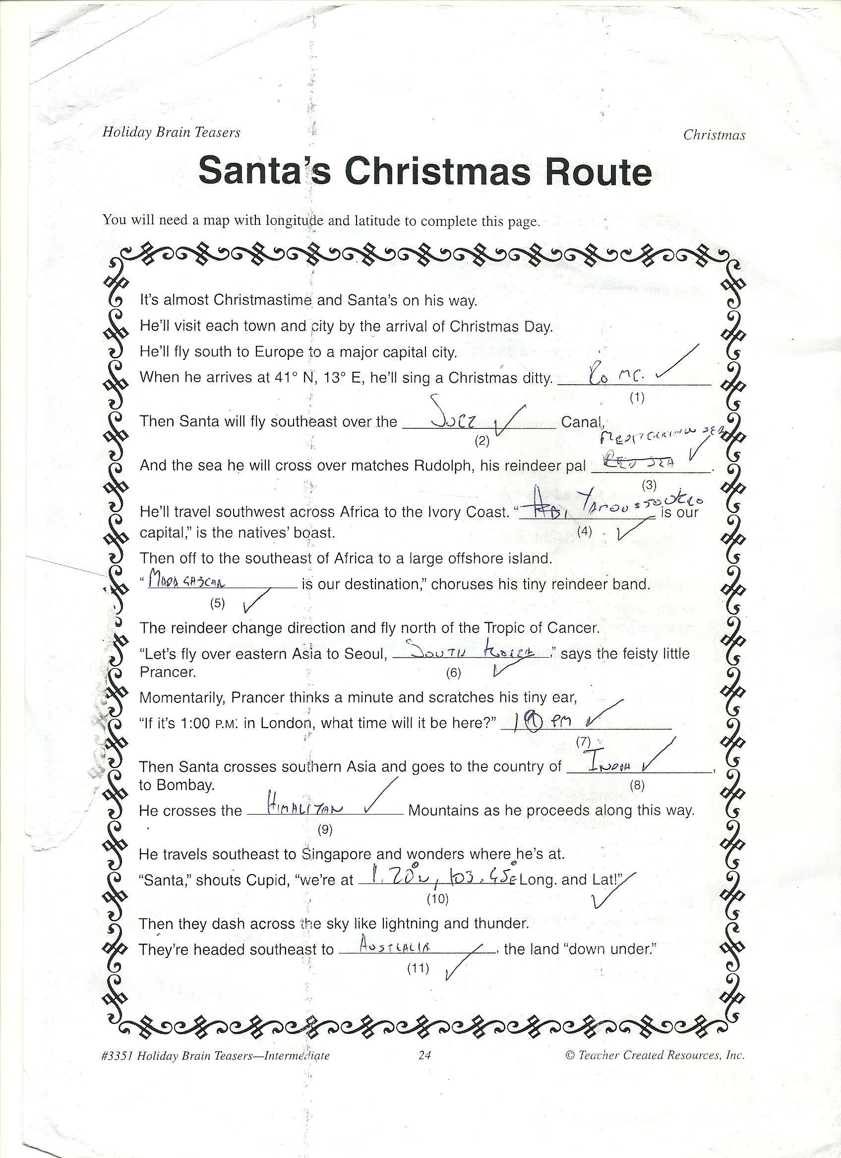 Santa S Christmas Route
