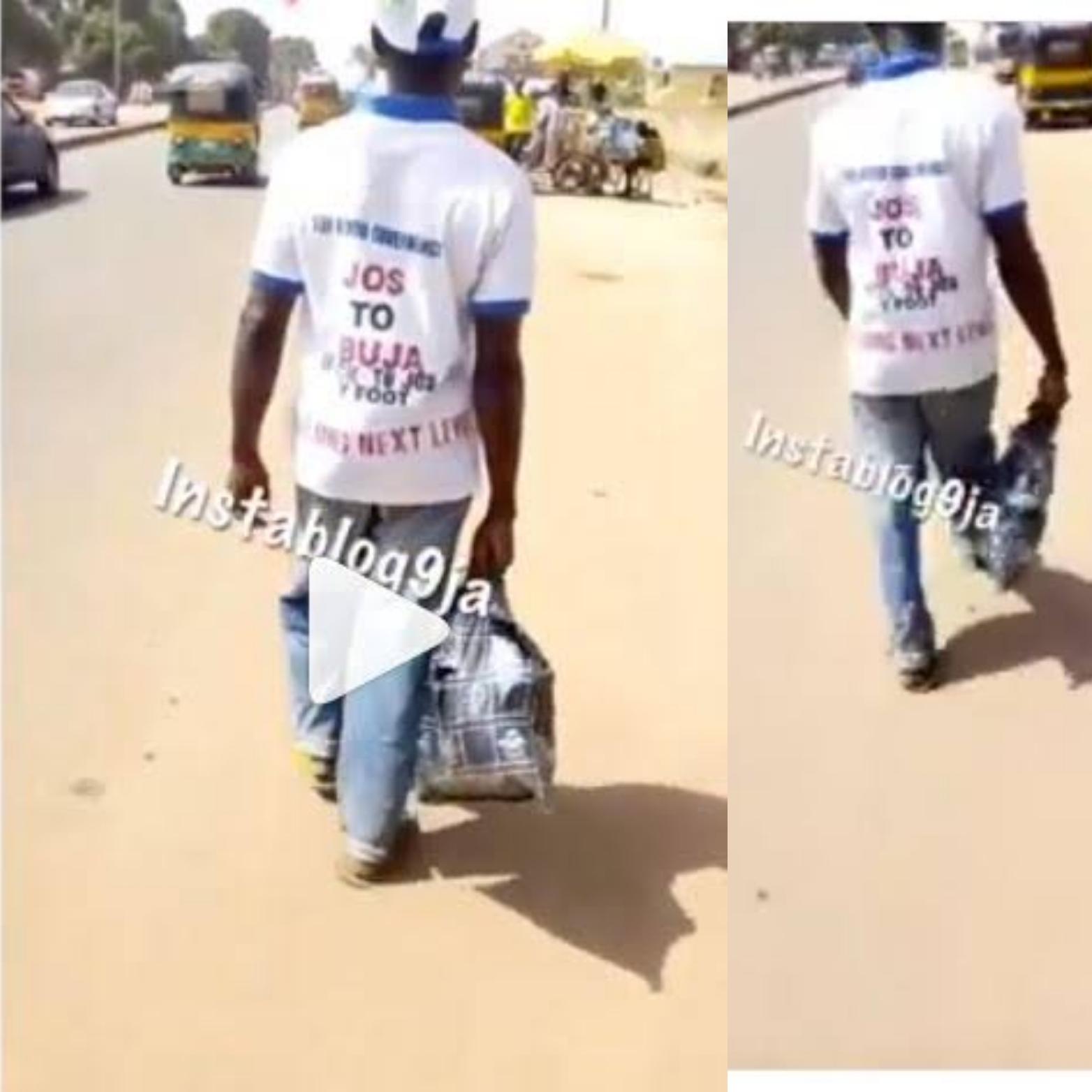 Jos man who trekked for buhari APC