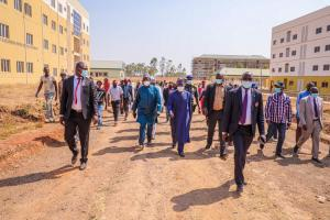 Project inspection at Plateau State University Bokkos by Governor Lalong