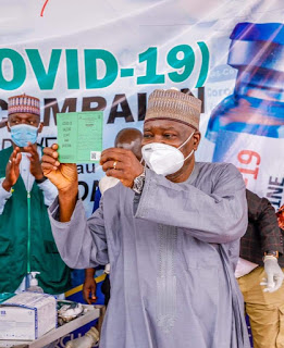 Plateau Gov Lalong, Tyoden, others receive COVID-19 vaccine (3)