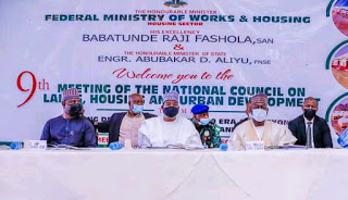 9th meeting of the National Council on Lands ,housing and urban development in Jos 1