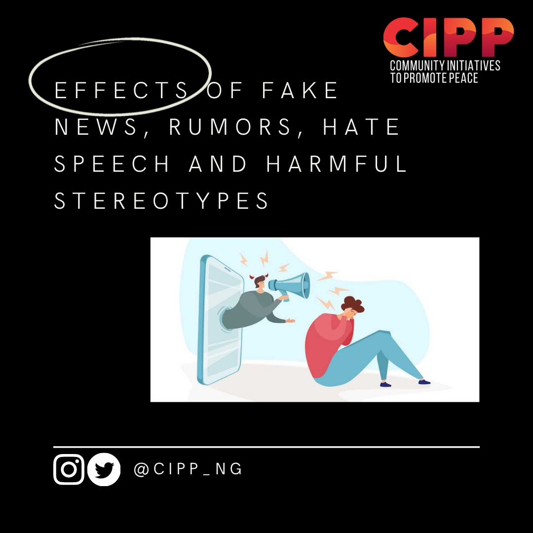 Effects of Fake News, Rumours, Hate Speech, and Harmful Stereotypes on Individuals and Society.