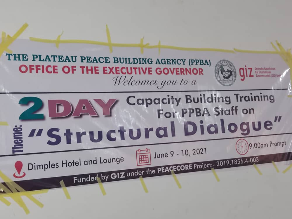 Plateau Peace Building Agency holds capacity building training for staff on structural dialogue 1