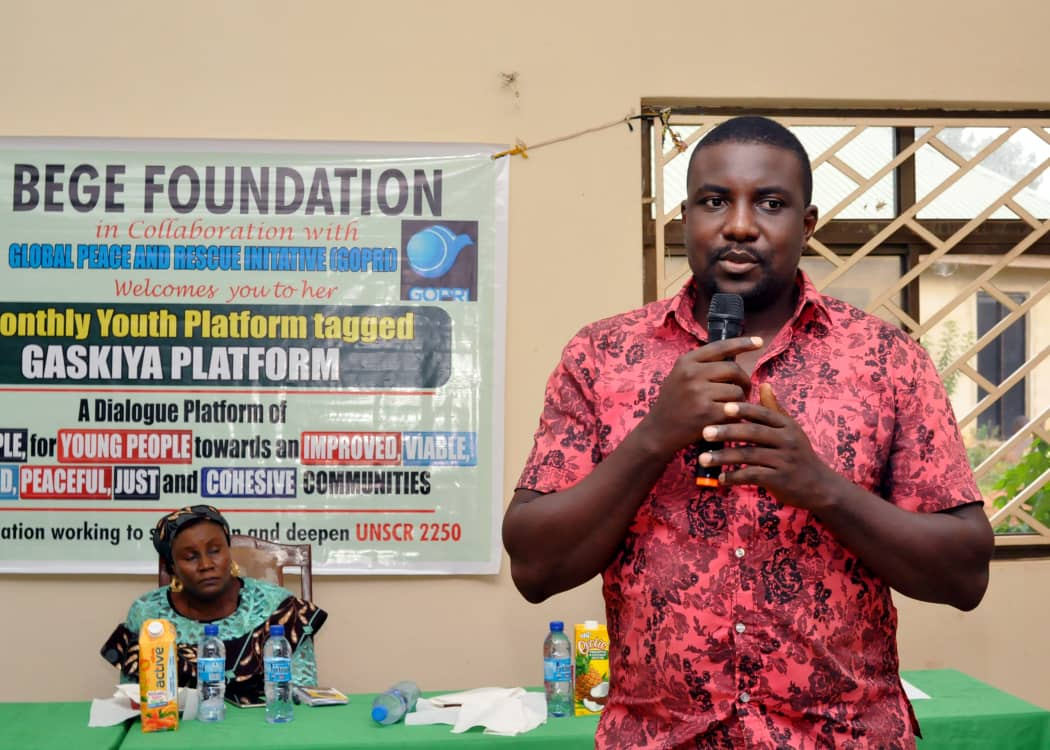 Youths should drive the process for building Peaceful Communities BEGE Foundation 13