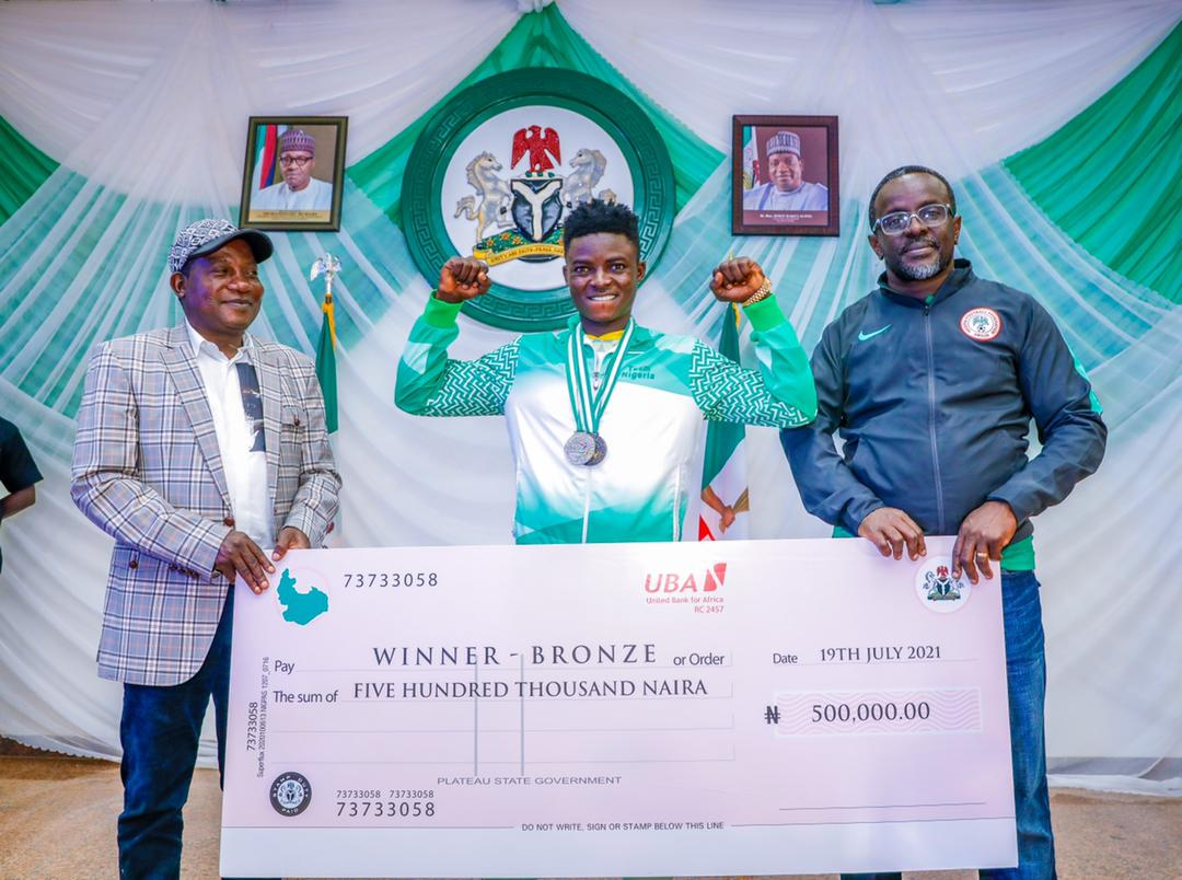 Plateau all gold medalists will receive the sum of 1 million Naira each