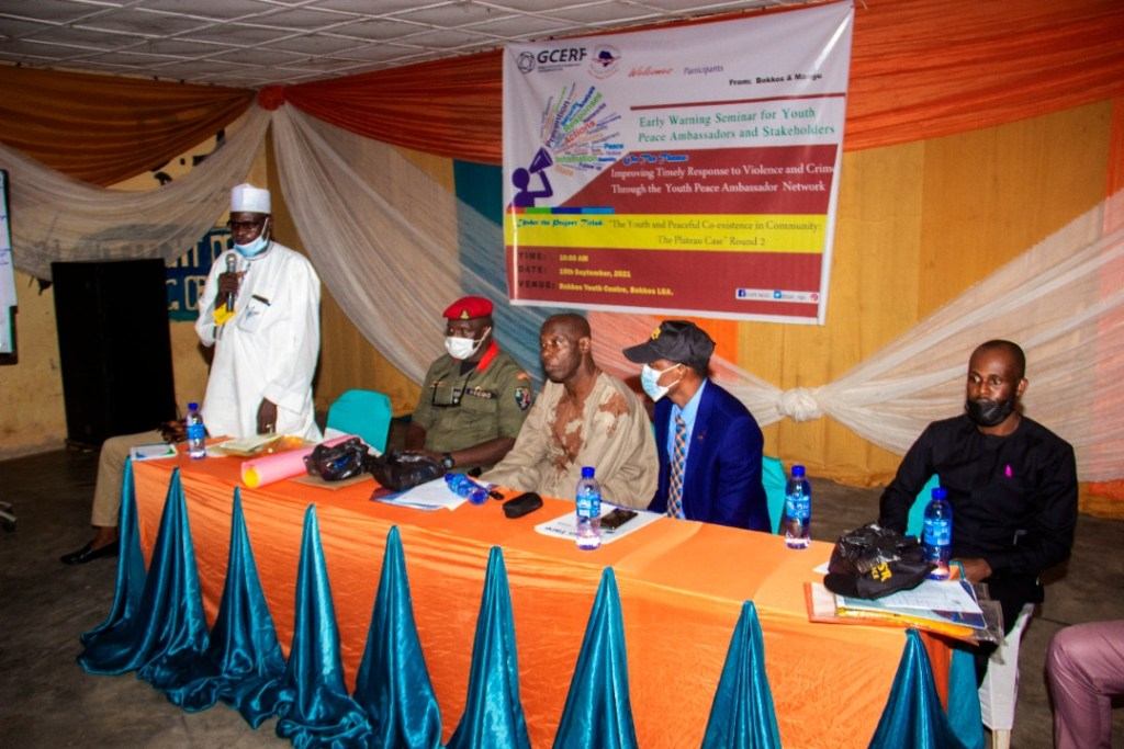 IGSR Organises Early Warning Seminar for 250 Youth Peace Ambassadors and Community Members in Plateau Central Senatorial Zone 12