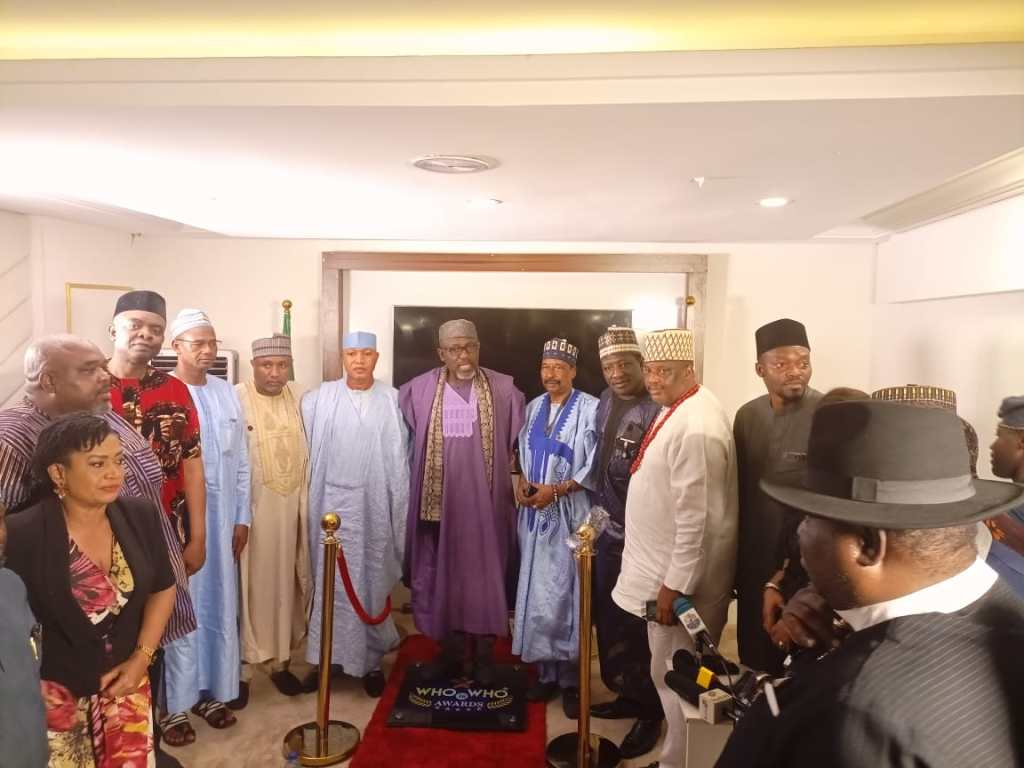 Sen Rochas Okorocha receives Nigeria's most expensive award Who Is Who Stand Of Fame 2