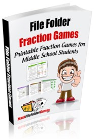 File Folder Fraction Games