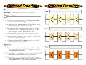 Ordered Fractions