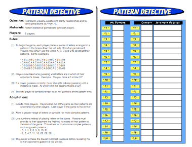 Pattern Detective