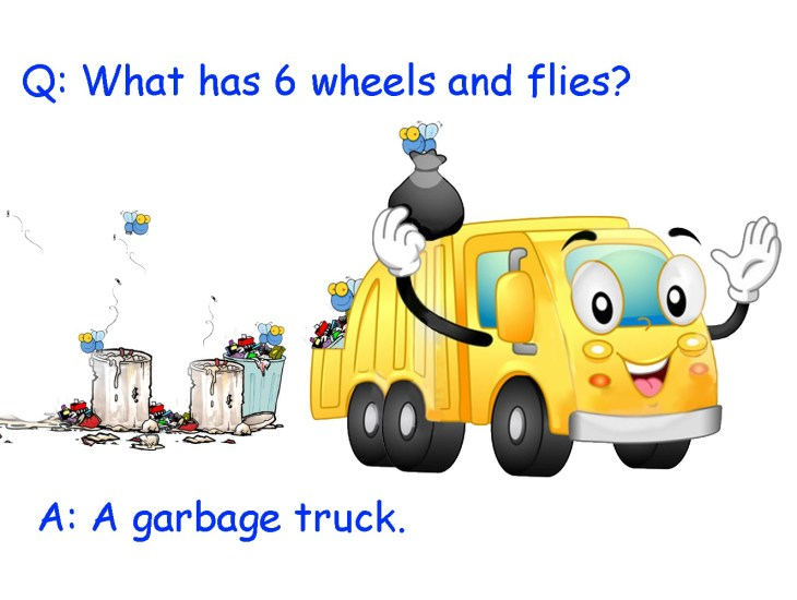 What has 6 wheels and flies