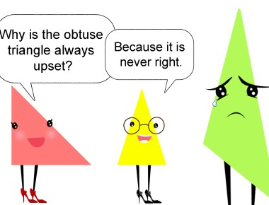 Why is the obtuse triangle always upset