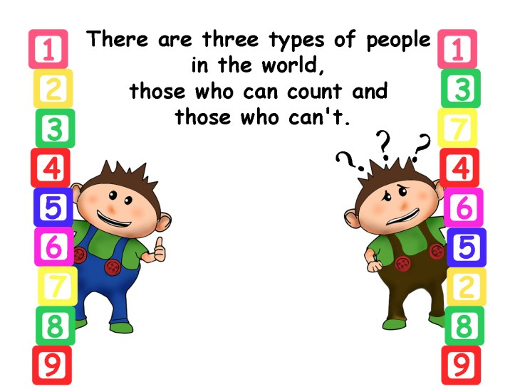 There are three types of people in the world, those who can count and those who can't.