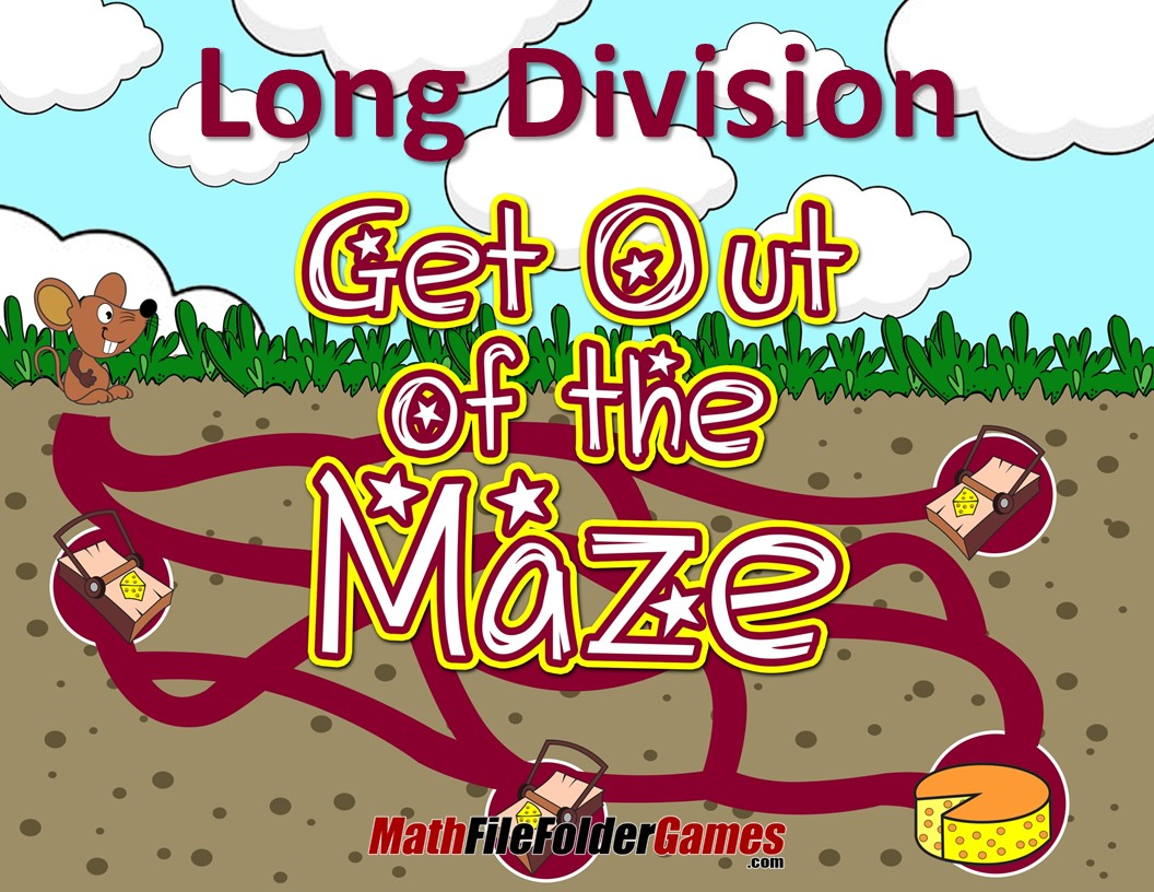 Fun Long Division Worksheets Mazes