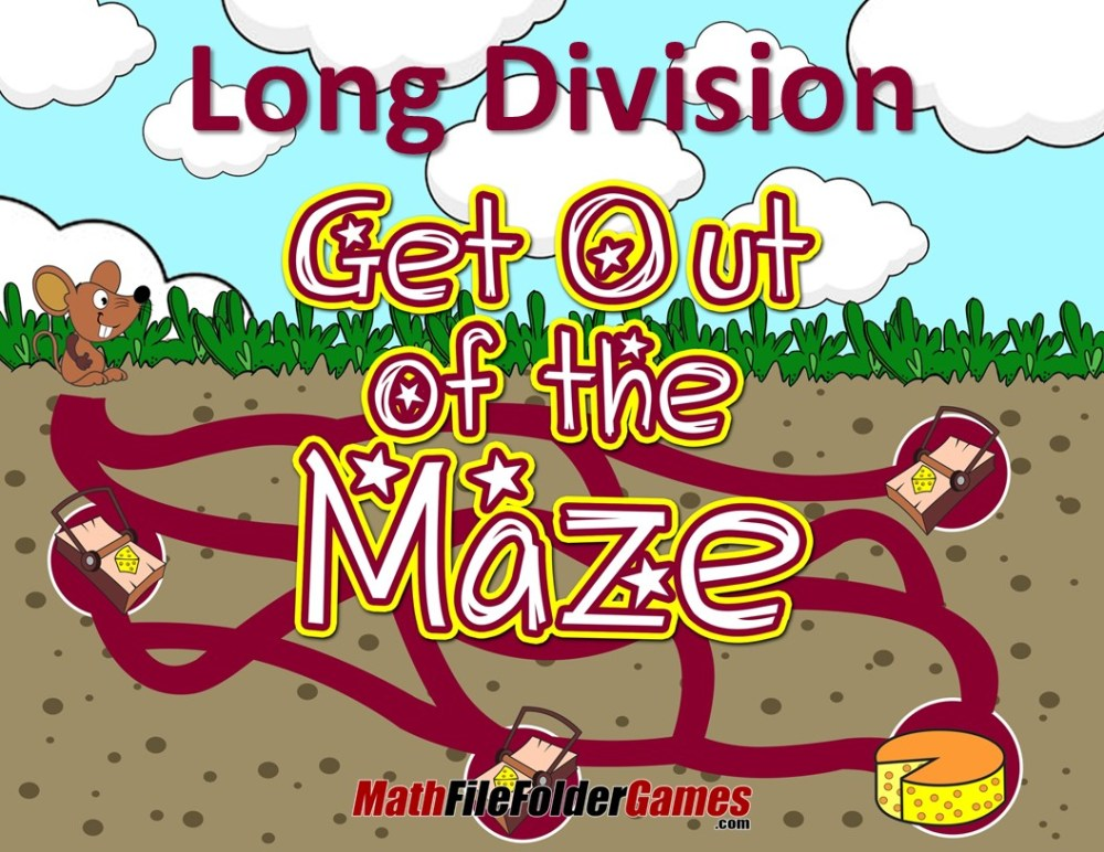 medium resolution of Fun Long Division Worksheets / Mazes