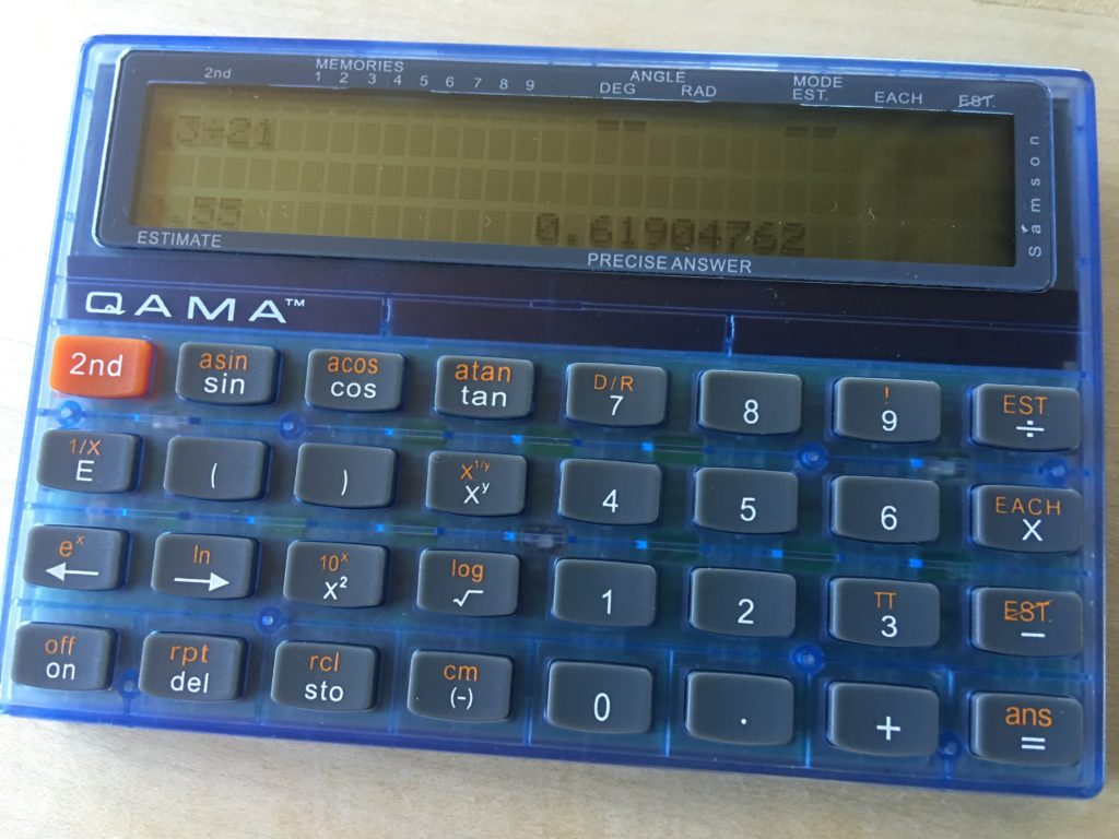 hight resolution of QAMA – the calculator that won't make you lazy