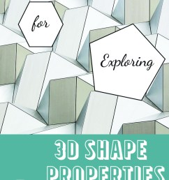 3-D Shapes Worksheets - Math Geek Mama [ 1102 x 735 Pixel ]