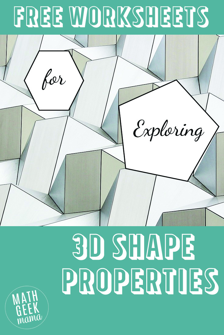 hight resolution of 3-D Shapes Worksheets - Math Geek Mama