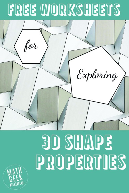 small resolution of 3-D Shapes Worksheets - Math Geek Mama