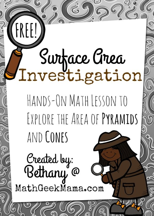 small resolution of FREE Surface Area of Pyramids and Cones Investigation