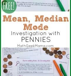 Understanding Data: FREE Mean Median \u0026 Mode Lesson   Math Geek Mama [ 1406 x 800 Pixel ]