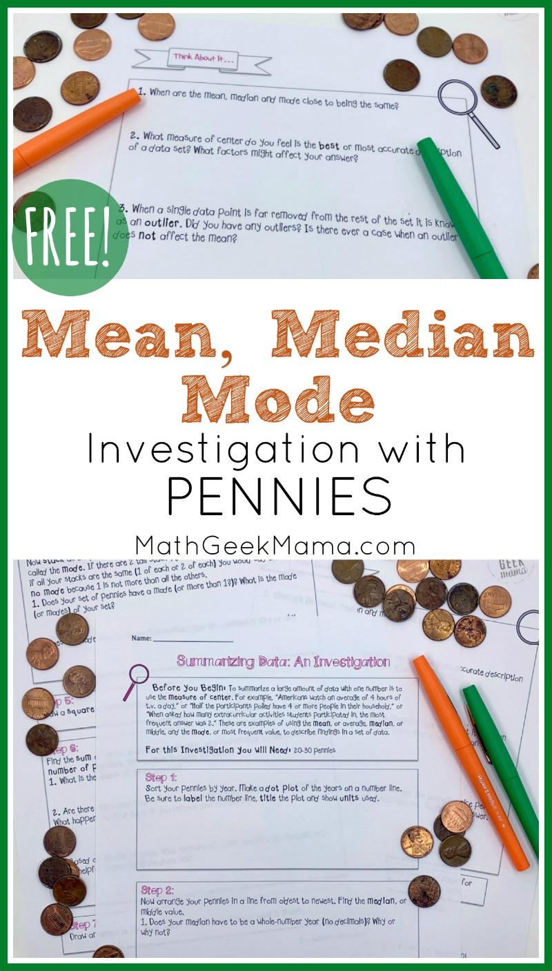 medium resolution of Understanding Data: FREE Mean Median \u0026 Mode Lesson   Math Geek Mama
