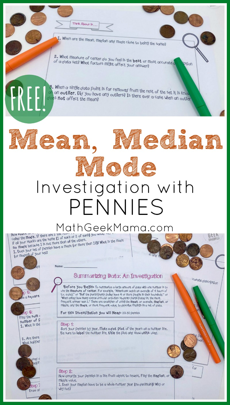 hight resolution of Understanding Data: FREE Mean Median \u0026 Mode Lesson   Math Geek Mama